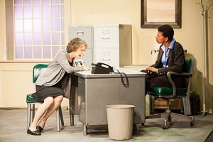 Pictured left to right: Tamar Cohn and Velina Brown* as Ann in THE ANARCHIST by David Mamet; Directed by John Fisher; A Theatre Rhinoceros Production at the Eureka Theatre; Photo by David Wilson. (*Member Actors' Equity Association.)