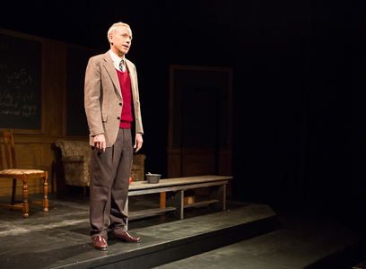 John Fisher as Turing in Breaking the Code by Hugh Whitemore; A Theatre Rhinoceros production at the Eureka Theatre. Photo by David Wilson.