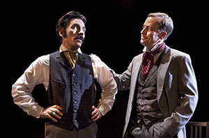 Jef Valentine as Basil Hallward, John Fisher as Lord Harry