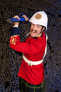 William J. Brown III as General Hector MacDonald in Fighting Mac! by John Fisher; a Theatre Rhinoceros production at Thick House Theatre. Photo by Kent Taylor.