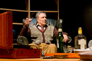 Pictured: Donald Currie as Auden in The Habit of Art by Alan Bennett; directed by John Fisher; a Theatre Rhinoceros production at Z Below;