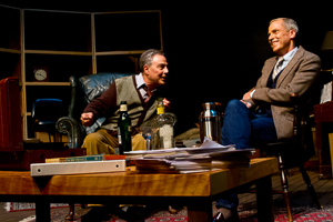 Pictured left to right: Donald Currie as Auden and John Fisher as Britten in The Habit of Art by Alan Bennett; directed by John Fisher;