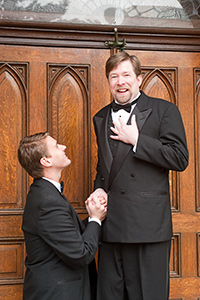Pictured left to right: Caleb Draper as Ben and Bill Fahrner* as Mark in Stephen Sondheim's MARRY ME A LITTLE, a musical comedy with music and lyrics by Stephen Sondheim; directed by John Fisher. A Theatre Rhinoceros Production at the Eureka Theatre.