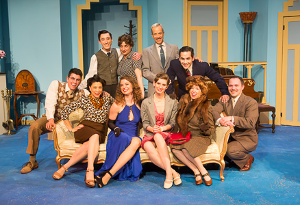 The Cast of Noël Coward's PRESENT LAUGHTER, A Theatre Rhinoceros Production at The Eureka Theatre, Photo by David Wilson.