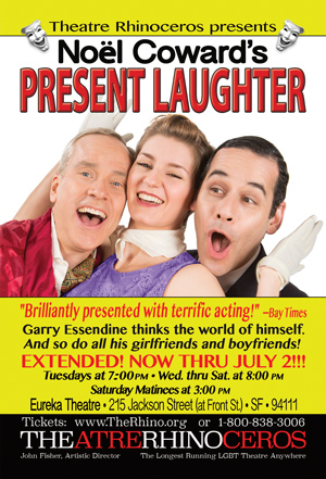 Present Laughter postcard front