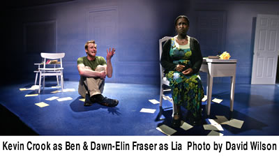 Ken Crook as Ben and Dawn-Elin Fraser as Lia