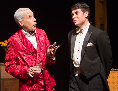 Pictured left to right: John Fisher as Sir Hugo Latymer and Marvin Peterle Rocha as Felix in Noel Coward's A SONG AT TWILIGHT.