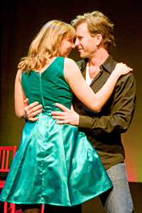 Left to Right: Scott Gessford as Jonathan and Susan in Jonathan Larson's tick, tick... BOOM!